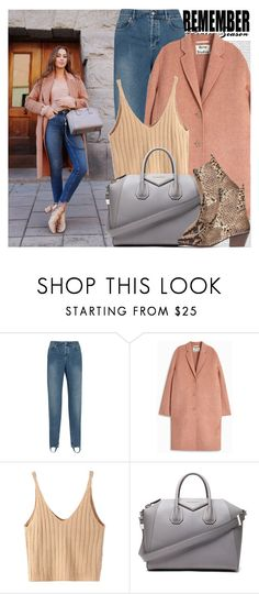 """""""2520. Blogger Style: Kenzas"""" by chocolatepumma ❤ liked on Polyvore featuring Oris, Balenciaga, Acne Studios, WithChic, Givenchy and Sandro"""