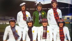 Ahead of Scotland vs England, can you name the seven Scotsmen here who added a touch of tartan to their #lufc kits?