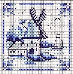 Punto croce - Schemi Gratis e Tutorial: Quadretti a punto croce in stile olondese