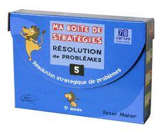 La série Ma boite de stratégies – Résolution de problèmes est un outil d'enseignement des stratégies de résolution de problèmes qui s'adresse aux élèves des six années du primaire. French Resources, Verses, Montessori Math, Exercise