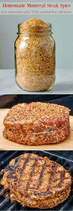Montreal Steak Spice - you control the salt level!, Homemade Montreal Steak Spice - you control the salt level!, Homemade Montreal Steak Spice - you control the salt level! Dry Rub Recipes, Steak Recipes, Grilling Recipes, Cooking Recipes, Cooking Tips, Rib Recipes, Smoker Recipes, Spinach Recipes, Dry Rubs