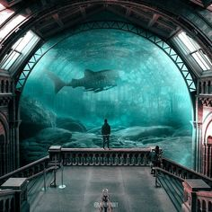 At the Museum. Animals and Architecture Photoshopped Surrealism. By Julien Tabet.