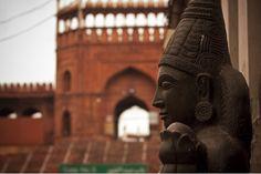 Mix-culture Hindu God, out sideJama-Masjid,Chandni-chowk,NewDelhi, India.