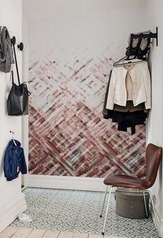 Einfach Wohnzimmer Ideen Wandgestaltung Streifen In Ideen   Wohnen    Pinterest   Wand