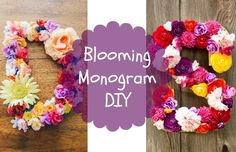 Blooming Monogram DIY Since spring is amongst us and summer is quickly on its way, we might as well get crafty and in the spring spirit! Flowers are my favorite part about spring. I love all of the different colors that make the outdoors even more beautiful. While scrolling through Pinterest the other day, I found... Read More at http://www.chelseacrockett.com/wp/diy-2/blooming-monogram-diy/. Tags: #Bloomingmonogram, #Craft, #Decor, #Decoration, #Diy, #Flowers, #Monogr