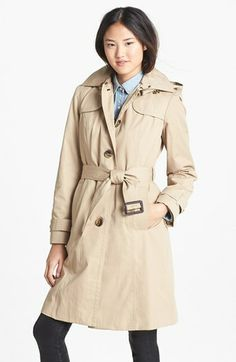 London Fog Trench Coat with Detachable Hood & Liner (Regular & Petite) (Online Only) available at #Nordstrom
