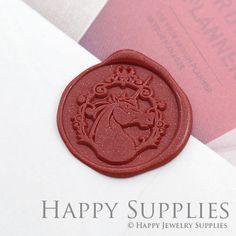 1pcs Unicorn Gold Plated Wax Seal Stamp