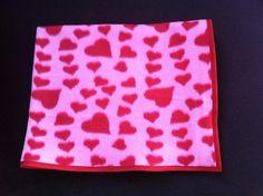 Cobertor Soft Pets Coração Rosa 50x50cm Hearts Pet Blanket