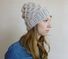 Textured Beanie Chunky Winter Hat Women Men Beanie by BoPeepsBonnets, $30.00
