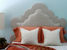 GroB Diy Bett Kopfteil Polster Grau Form Kissen Orange