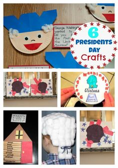 6 fun and easy Presidents day crafts and activities! www.skiptomylou.org #crafts #presidentsdaycrafts #patrioticcrafts