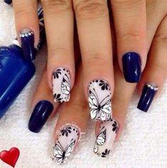 Natural Nail Designs, Gel Nail Art Designs, Beautiful Nail Designs, Nagel Stamping, Stamping Nail Art, Manicure And Pedicure, Gel Nails, Nail Nail, Cute Nails