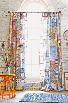 Love, love, love these patchwork curtains - one of 8 picks for this week's Friday Favorites