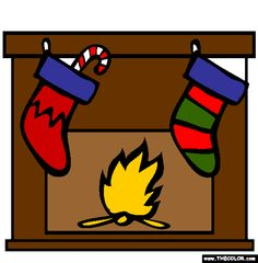 christmas stockings online coloring page