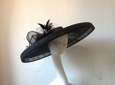 Wide brim Ascot hat