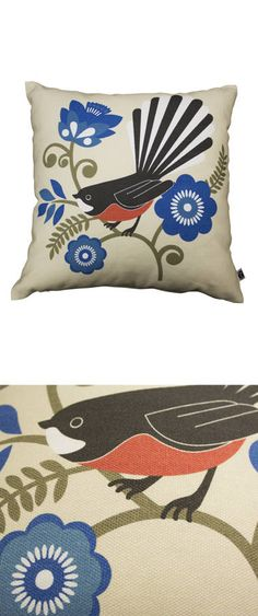 PRETTY FANTAIL CUSHION - CUSHIONS FOR MUM - OTHER - Mr Vintage