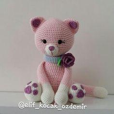amigurumi pink cat amigurumi kedi