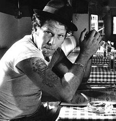 Comment by Justin Walsh - I simply repinned -Tom Waits could be pinned on any board in this account.   Now, this is my comment - see my Pin about the movie Smoke - Tom Waits is on the sound track and it is mesmerizing.
