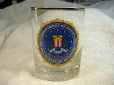 Vintage 1960s FBI Glass. Beautiful FBI Logo. by vintagestuffgalore, $11.00