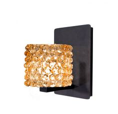 WAC Lighting WS58LED-G539 Mini Haven Crystal Bead Shade Integral Dimming LED Wall Sconce with Industrial Uplight Accent Image