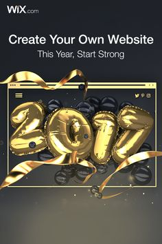 Start your year off strong by creating your own website. It's easy and free with Wix!