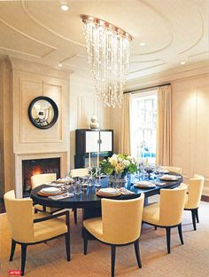 Glamorous Ceiling Detail In Dining Room (AD)