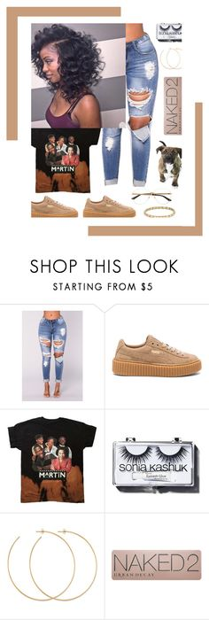 """10.19.17"" by eniola29 ❤ liked on Polyvore featuring Puma, Sonia Kashuk, Allison Bryan, Urban Decay and David Yurman"