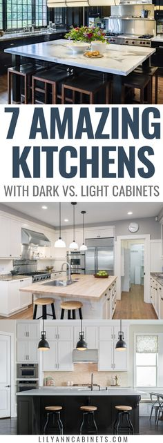 Light and airy, or dark and moody? You choose! Check out these 7 gorgeous kitchens that demonstrate Light Kitchen Cabinets, Black Cabinets, Bathroom Cabinets, Layout Design, Organizing Hacks, Rustic Kitchen Design, Kitchen Designs, Rustic Home Interiors, Ikea