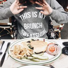 Only TWO #brunch sweatshirts left! Hurry and get one before it's gone 😱 | shopjawbreaking.com