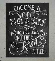 Choose A Seat Chalkboard Art Print