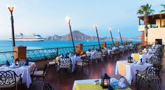 Ocean view dining at Villa Del Arco Beach Resort and Grand Spa in Los Cabos, Mexico! Perfect for honeymooners and destination weddings!