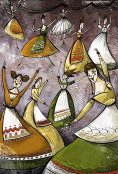 Nine Ladies Dancing.