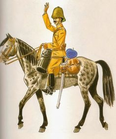 Los Regulares. Oficial de los Tabores de Caballería 1912 Uniforme de campaña