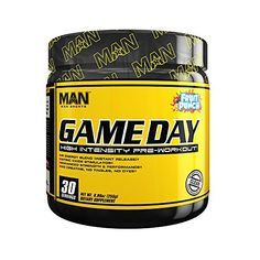 MAN Sports Game Day High Intensity PreWorkout Supplement Fruit Punch 255 Gram * You can get additional details at the image link.