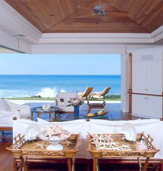 Ocean front home, shells
