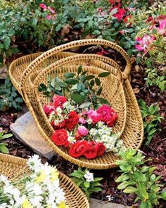 Basket filled with roses