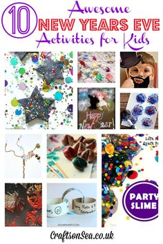 The most fun New Years Eve activities for kids, sensory play ideas, painting, free printables and more!