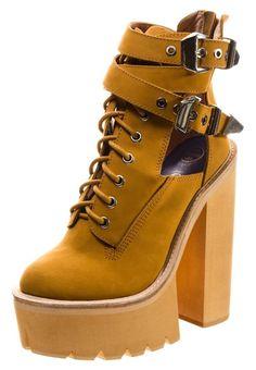 Platform boots - yellow http://picvpic.com/women-shoes-boots/je711n001-e11-platform-boots-yellow