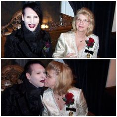 Marilyn Manson and his mother She (and Hugh) gave us a great man. Barbara Warner ...... Sunset 5/14/2014