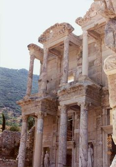 Turkey. Ephesus. The library of Celsus. (I actually know what & where & who this refers to!)