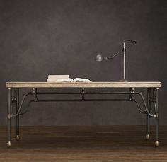 French Bistro Pipefitter's Desk - contemporary - desks - - by Restoration Hardware