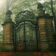 Thresholds:  Wrought-iron gates.