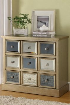 Coast to Coast Gold and Silver Mirror 3 Drawer Chest $437.00