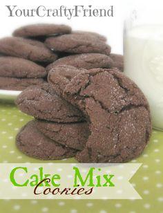 Cake Mix Cookies on MyRecipeMagic.com #cookies #cakemix