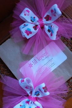 Cupcake Birthday Girl Tulle Bow by LilLovesBowtique on Etsy, $6.00
