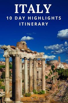 Italy 10 day travel itinerary: The perfect Italy itinerary for first timers. Includes where to go in Italy - highlights of Rome, Florence, Venice and more - plus all the details you need to book your own trip - hotels, best things to do in Italy, how to t Cool Places To Visit, Places To Travel, Travel Destinations, Bon Plan Voyage, Italy Travel Tips, Rome Travel, Greece Travel, Things To Do In Italy, Italy Vacation