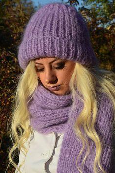 Chunky knit scarf hat set Chunky knit hat Super chunky