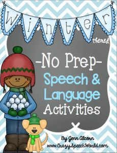 No Prep winter themed speech and language activities