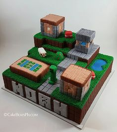 Gallery of some custom cakes & cupcakes, wedding & debut cakes and dessert & candy buffet creations of CakeBeatsPh. Minecraft Birthday Cake, Minecraft Cake, Minecraft Party, 6th Birthday Parties, Birthday Cake Girls, 9th Birthday, Debut Cake, Homemade Birthday Cakes, Troll Party