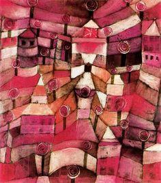 Paul Klee - Rose Garden -- When I was join high school, my art teacher told me that my work reminded him of Paul Klee's ... He also told me I would fail art class if I didn't turn in some realism before the end of the semester !  ~ lol ~